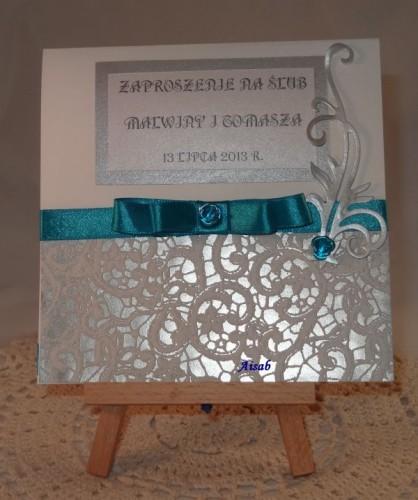 DSC01457zaproszenie na ślub, ręcznie robione
