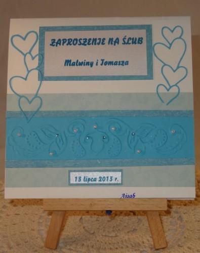 DSC01462zaproszenie na ślub, ręcznie robione
