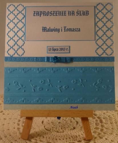 DSC01463zaproszenie na ślub, ręcznie robione