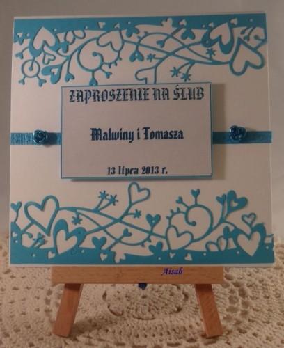 DSC01464zaproszenie na ślub, ręcznie robione