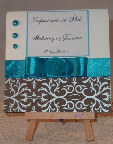 DSC01467zaproszenie na ślub, ręcznie robione