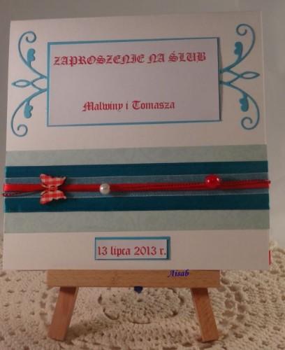 DSC01468zaproszenie na ślub, ręcznie robione