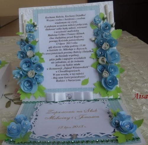 DSC01585zaproszenie na ślub, recznie robione