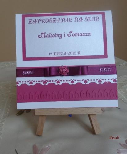DSC01595zaproszenie na ślub, recznie robione