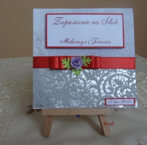 DSC01609zaproszenie na ślub, recznie robione