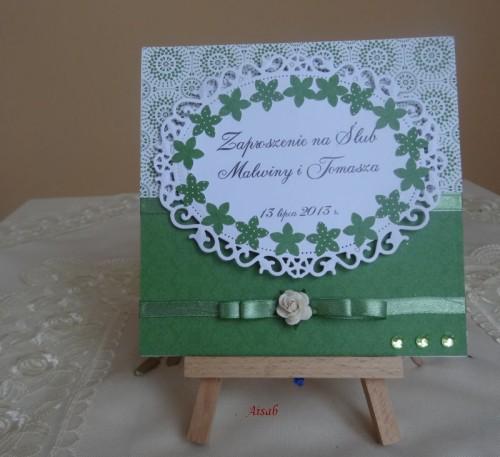 DSC01610zaproszenie na ślub, recznie robione
