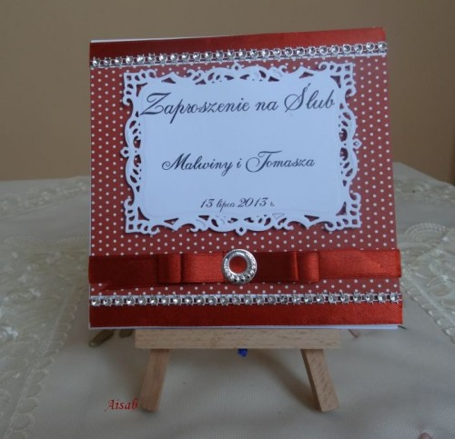 DSC01611zaproszenie na ślub, recznie robione