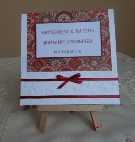 DSC01619zaproszenie na ślub, recznie robione