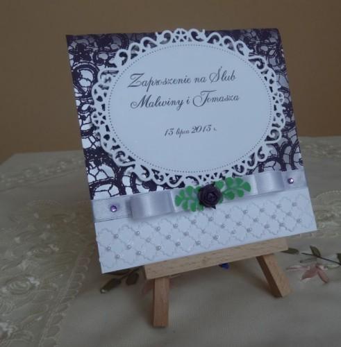 DSC01622zaproszenie na ślub, recznie robione