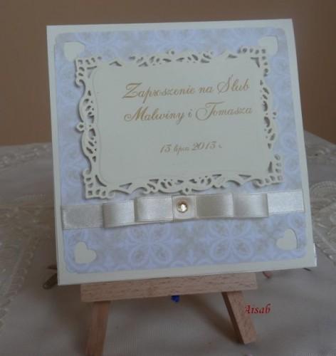 DSC01625zaproszenie na ślub, recznie robione