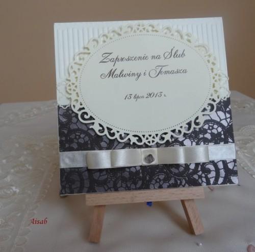 DSC01630zaproszenie na ślub, recznie robione