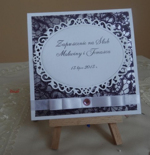 DSC01631zaproszenie na ślub, recznie robione