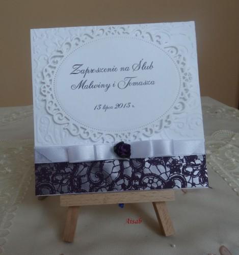 DSC01640zaproszenie na ślub, recznie robione