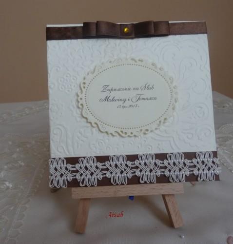DSC01641zaproszenie na ślub, recznie robione
