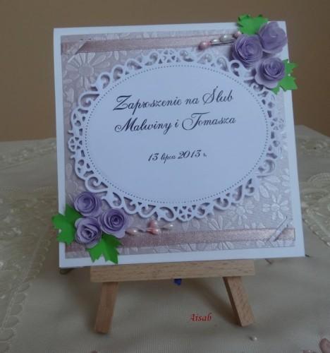 DSC01643zaproszenie na ślub, recznie robione