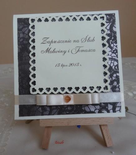 DSC01645zaproszenie na ślub, recznie robione
