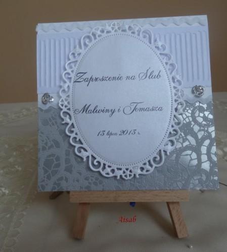 DSC01652zaproszenie na ślub, recznie robione