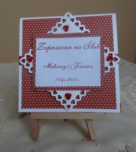 DSC01657zaproszenie na ślub, recznie robione