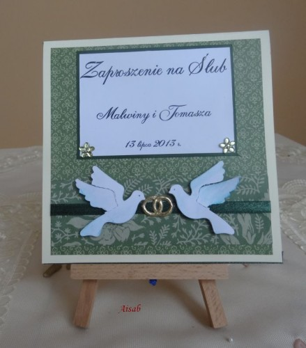 DSC01660zaproszenie na ślub, recznie robione