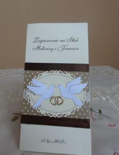 DSC01665zaproszenie na ślub, recznie robione