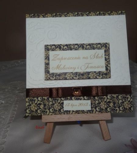DSC01682zaproszenie na ślub, recznie robione