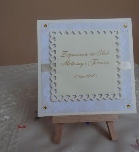 DSC01685zaproszenie na ślub, recznie robione