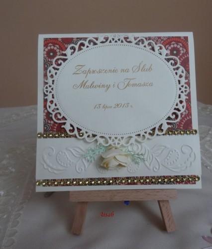 DSC01686zaproszenie na ślub, recznie robione