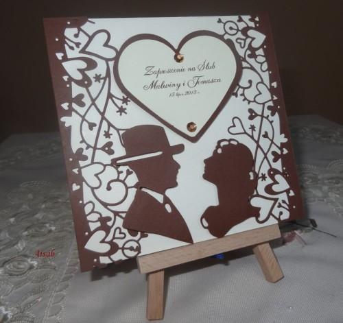 DSC01687zaproszenie na ślub, recznie robione