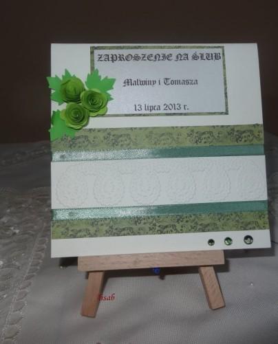 DSC01689zaproszenie na ślub, recznie robione