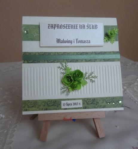 DSC01690zaproszenie na ślub, recznie robione
