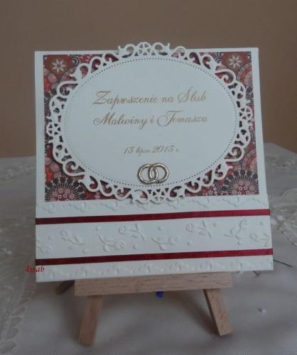 DSC01693zaproszenie na ślub, recznie robione