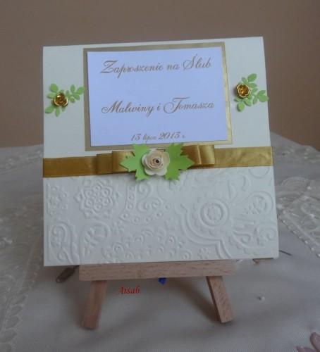 DSC01698zaproszenie na ślub, recznie robione