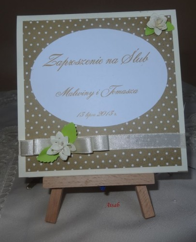 DSC01699zaproszenie na ślub, recznie robione