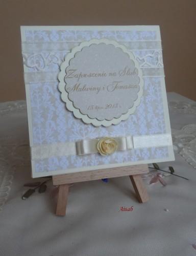 DSC01702zaproszenie na ślub, recznie robione
