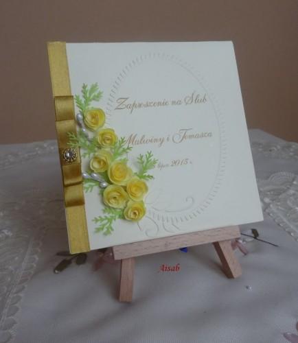 DSC01704zaproszenie na ślub, recznie robione
