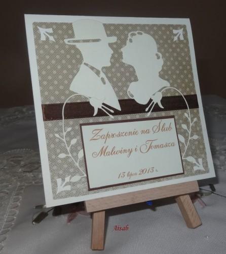 DSC01706zaproszenie na ślub, recznie robione