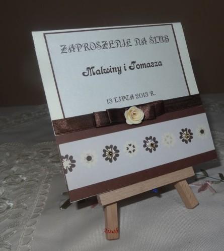DSC01709zaproszenie na ślub, recznie robione