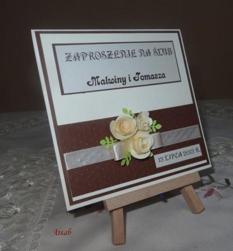 DSC01710zaproszenie na ślub, recznie robione