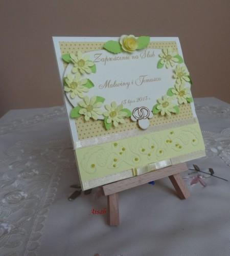 DSC01711zaproszenie na ślub, recznie robione