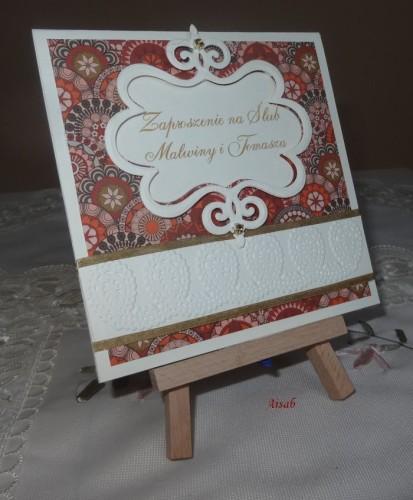 DSC01712zaproszenie na ślub, recznie robione