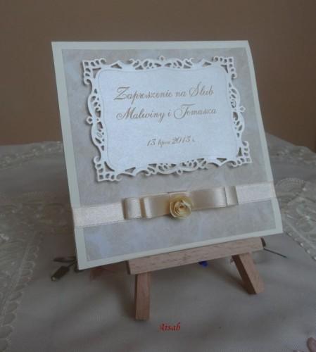 DSC01715zaproszenie na ślub, recznie robione
