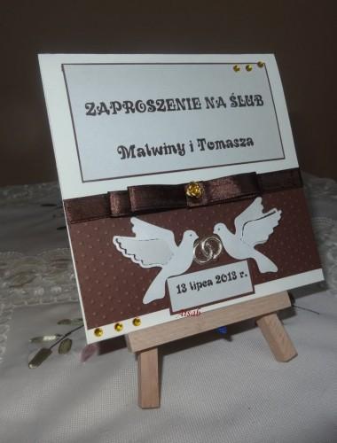 DSC01717zaproszenie na ślub, recznie robione