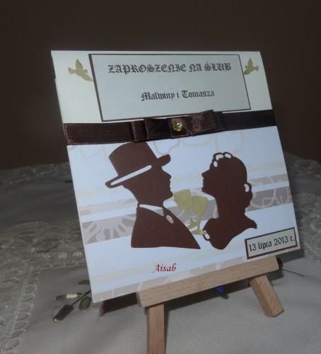 DSC01718zaproszenie na ślub, recznie robione