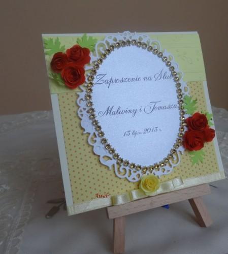 DSC01719zaproszenie na ślub, recznie robione