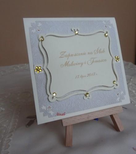 DSC01721zaproszenie na ślub, recznie robione