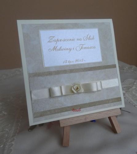 DSC01722zaproszenie na ślub, recznie robione