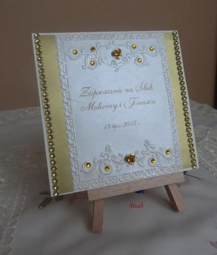 DSC01724zaproszenie na ślub, recznie robione
