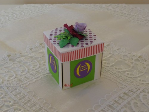 DSC021083Karteczka-pudełeczko na Wielkanoc ręcznie robiona