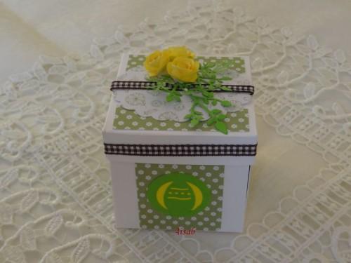 DSC02111Karteczka-pudełeczko na Wielkanoc ręcznie robiona