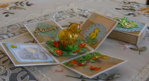 karteczka r- pudełeczko ęcznie robiona Wielkanoc